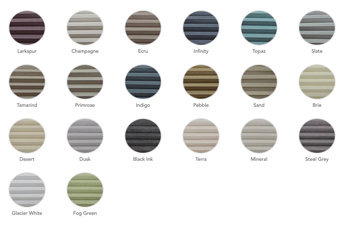 Colour choice of fabric for shutter and shade shutters