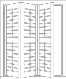 Multi-Fold shutter panels sketch