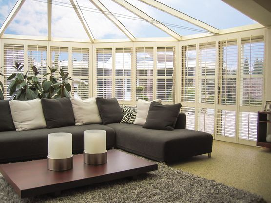 Conservatory style shutters